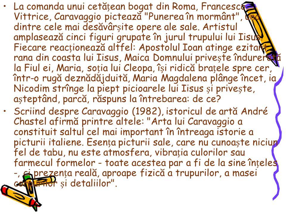 La comanda unui cetăean bogat din Roma, Francesco Vittrice, Caravaggio pictează