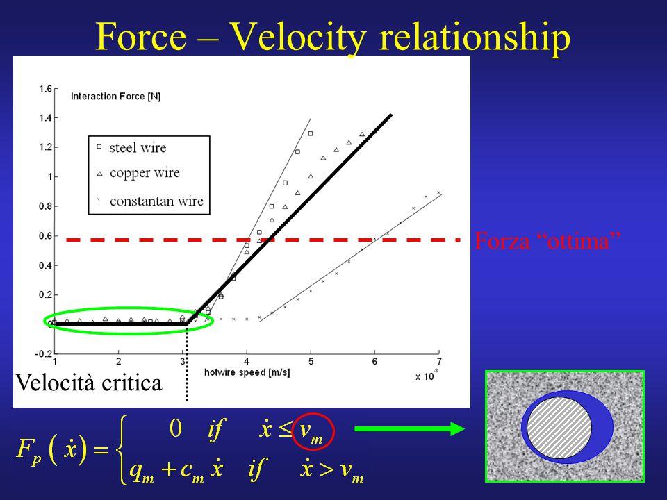 """20 Force – Velocity relationship Forza """"ottima"""" Velocità critica"""
