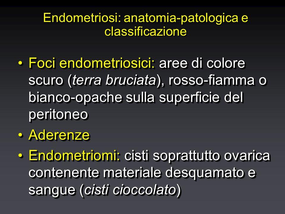 peritoneo salpinge colon ovaia utero Douglas vagina perineo intestino legamento rotondo cicatrice vescica ghiandola Bartolino Localizzazioni della endometriosi