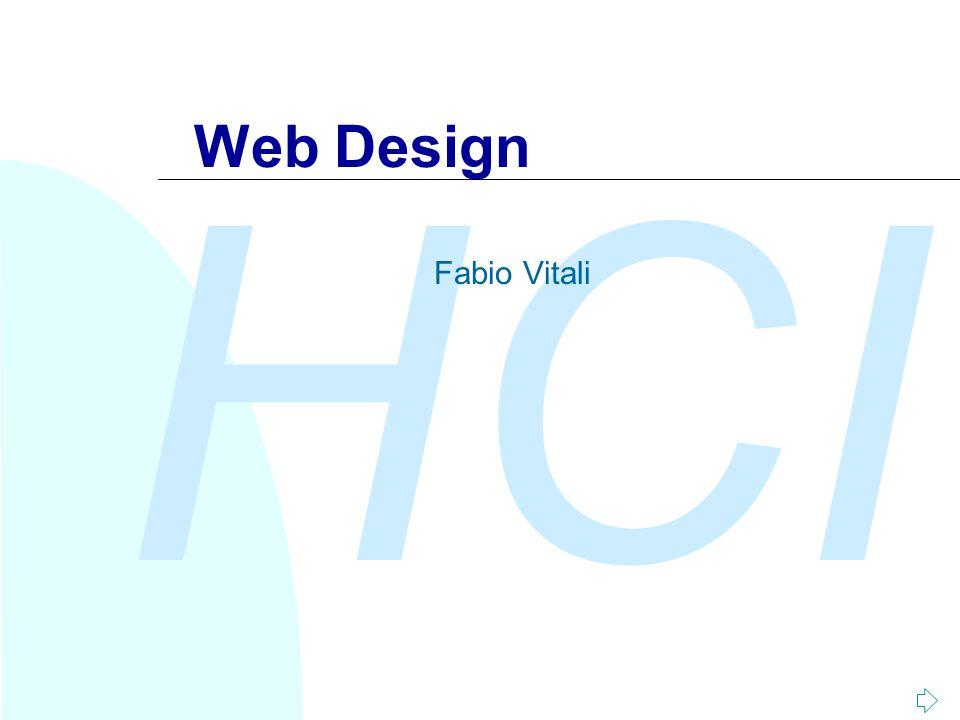 HCI Web Design Fabio Vitali