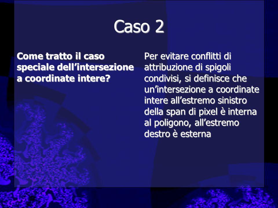 Caso 2 Come tratto il caso speciale dell'intersezione a coordinate intere.