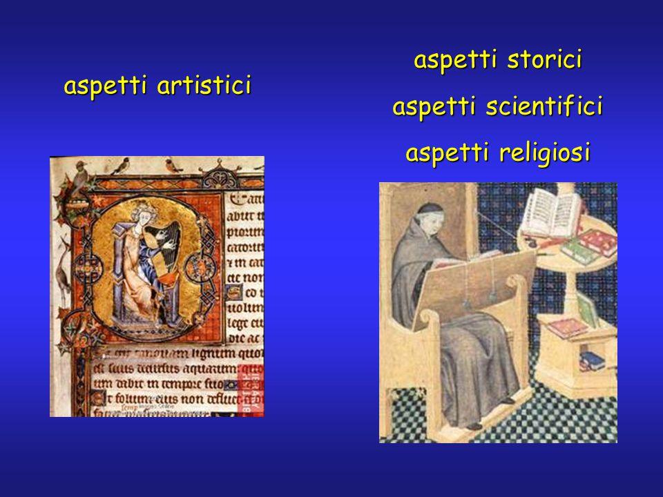 aspetti artistici aspetti storici aspetti scientifici aspetti religiosi
