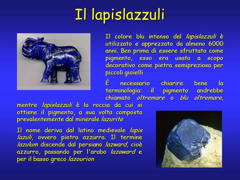 Il lapislazzuli Il colore blu intenso del lapislazzuli è utilizzato e apprezzato da almeno 6000 anni.