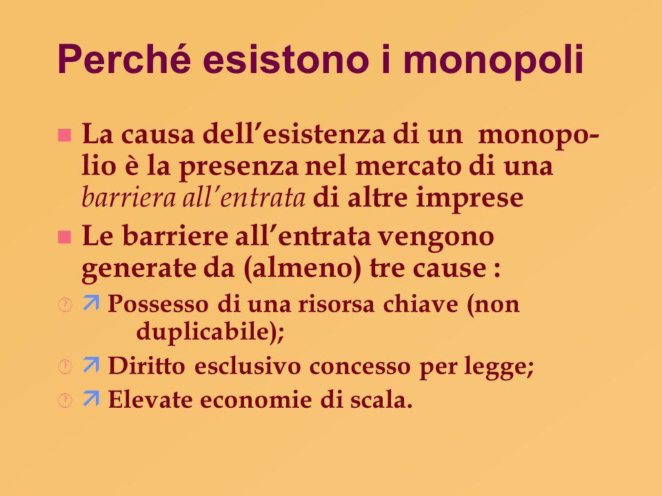 Discriminazione dei prezzi Due effetti importanti della discriminazione dei prezzi:  Fa aumentare i profitti del monopolista.