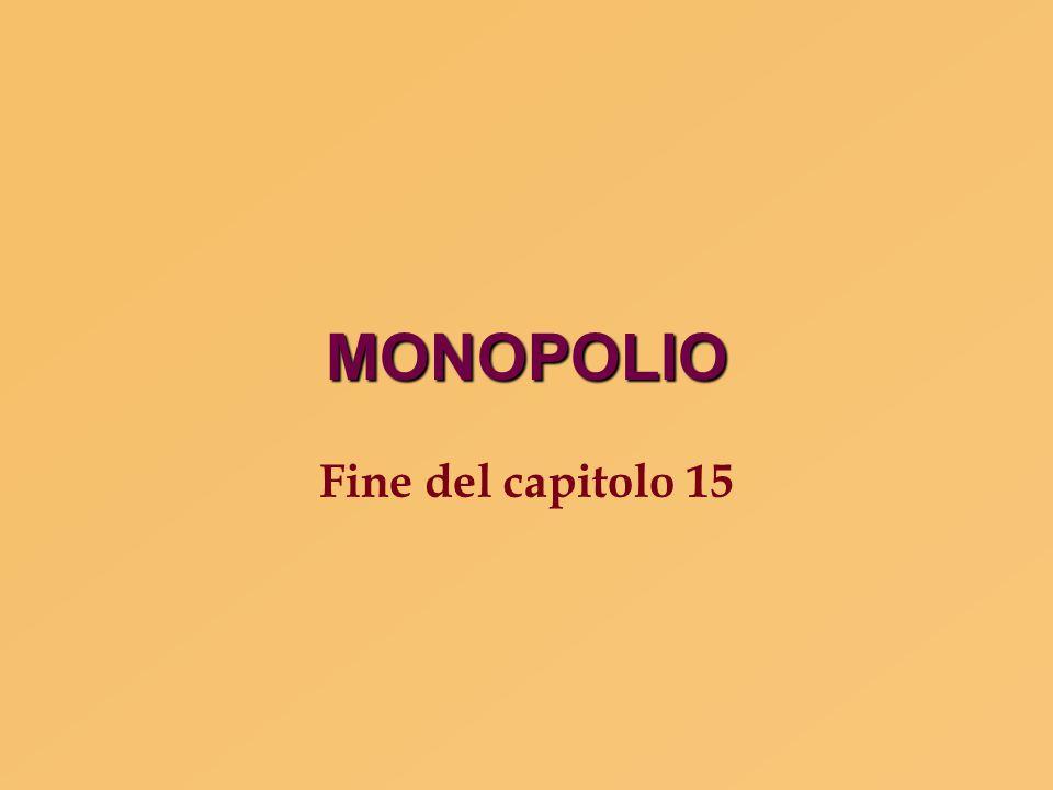 MONOPOLIO Fine del capitolo 15