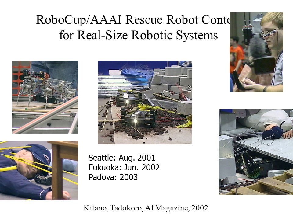 RoboCup/AAAI Rescue Robot Contest for Real-Size Robotic Systems Seattle: Aug.