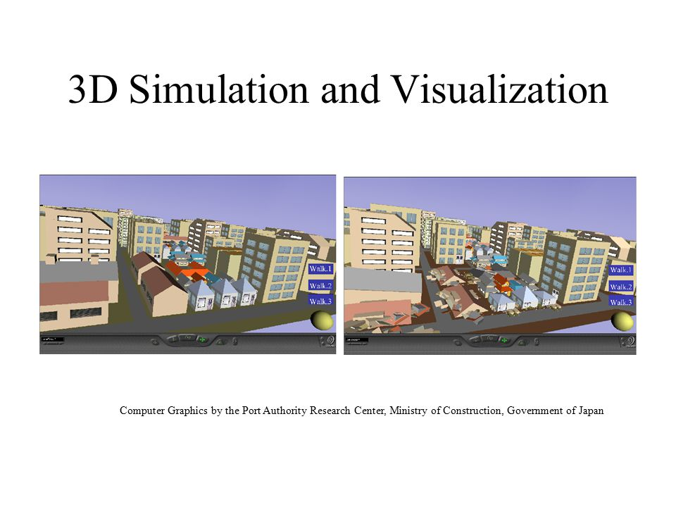 3D Visualization Agent View Computer Graphics by the Port Authority Research Center, Ministry of Construction, Government of Japan