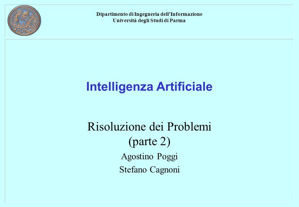 Dipartimento di Ingegneria dell'Informazione Università degli Studi di Parma Intelligenza Artificiale Risoluzione dei Problemi (parte 2) Agostino Poggi Stefano Cagnoni