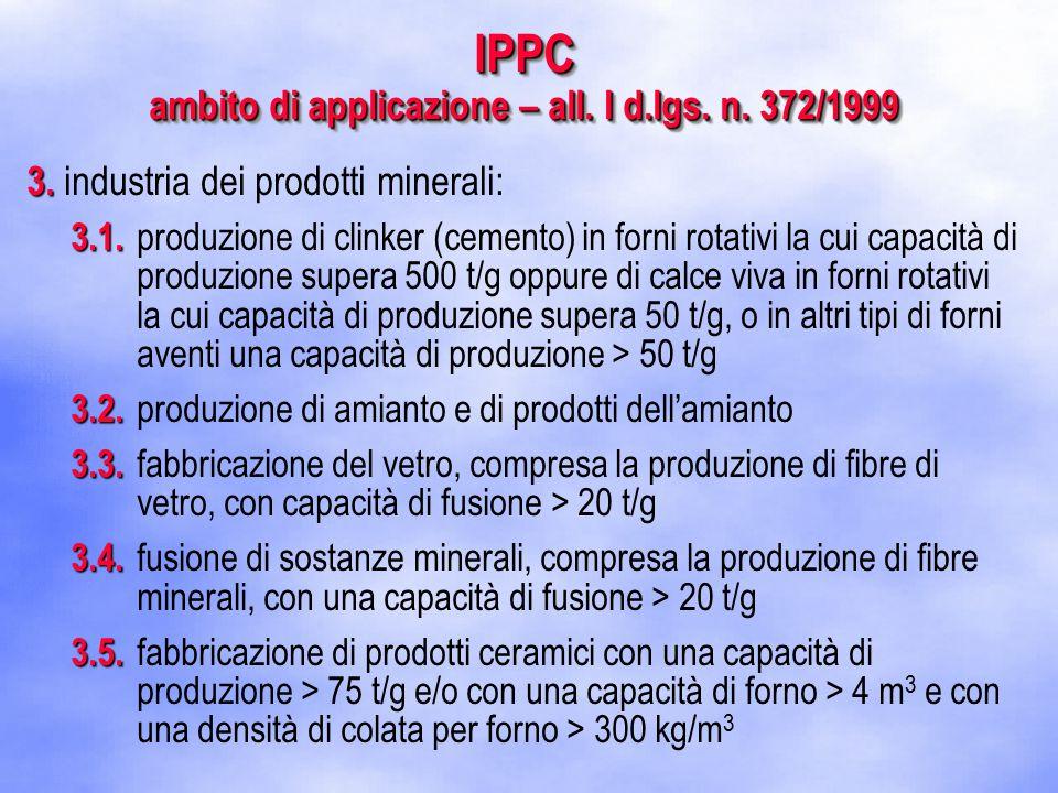3. 3. industria dei prodotti minerali: 3.1. 3.1.