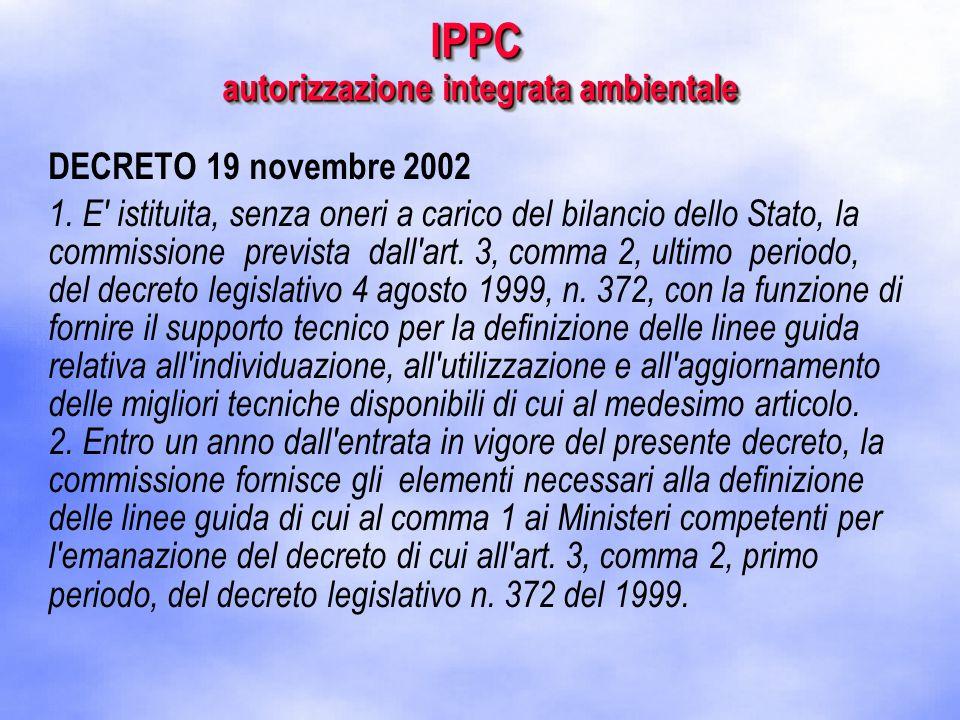 DECRETO 19 novembre 2002 1.