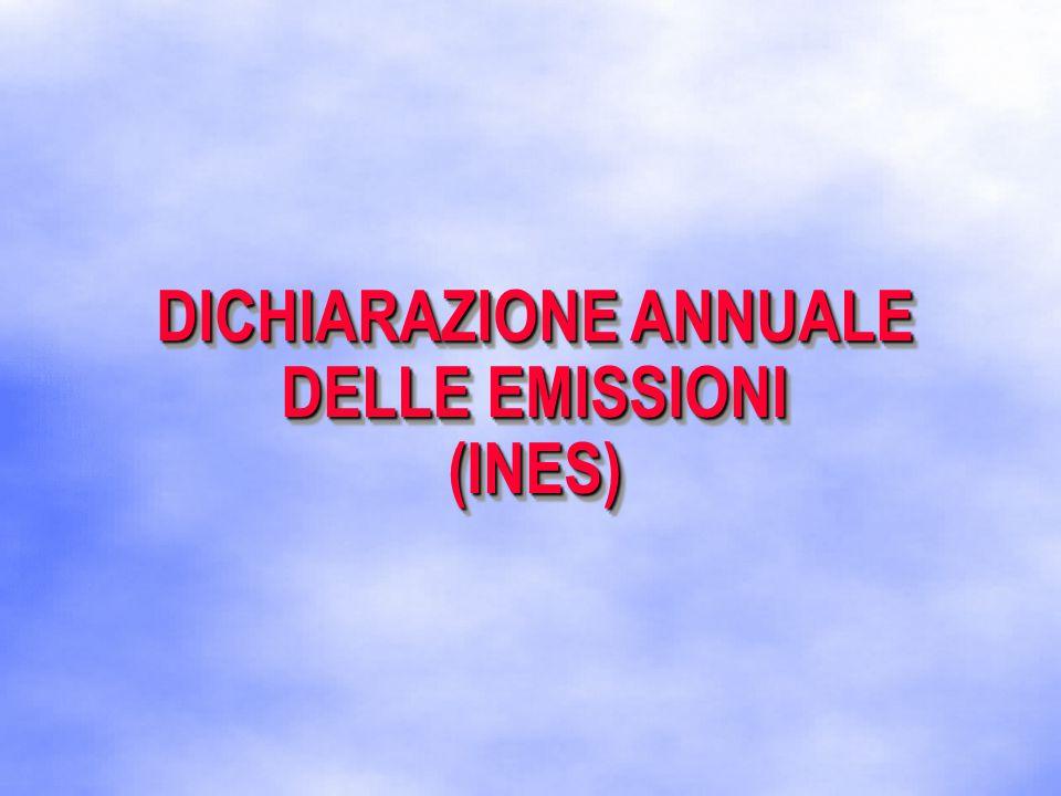 DICHIARAZIONE ANNUALE DELLE EMISSIONI (INES) (INES)