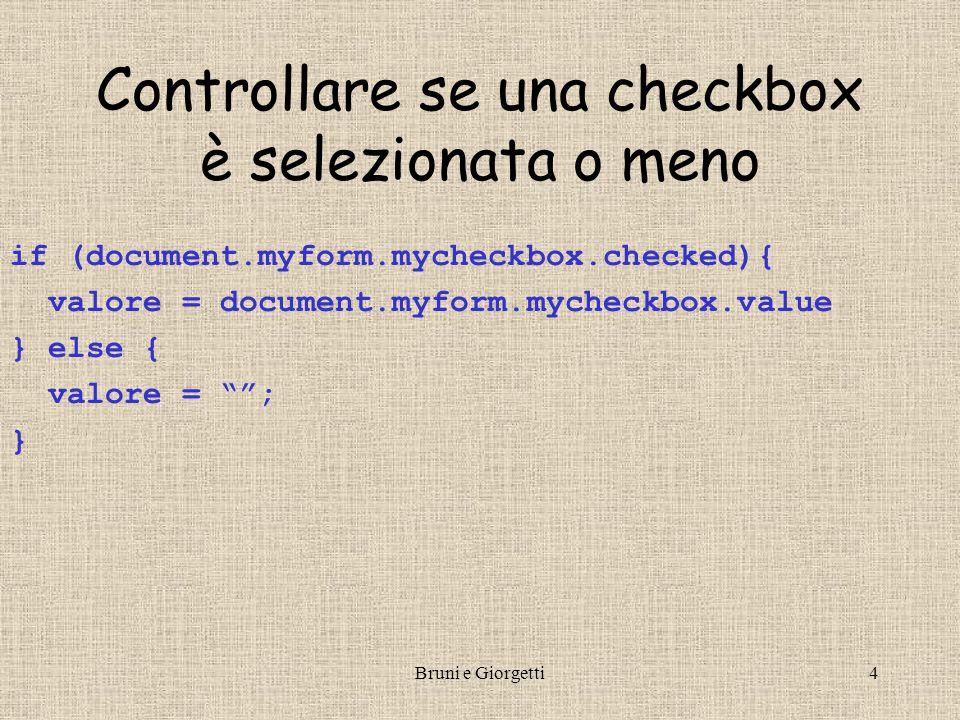 Bruni e Giorgetti15 Stringhe non vuote I usare un campo di input per leggere nome e cognome <input type= text name= mytext value= onblur= controlla(); /> …