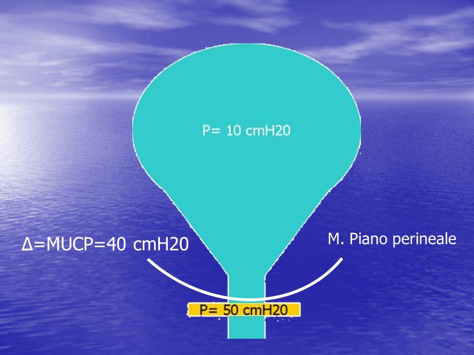 Δ=MUCP=40 cmH20 M. Piano perineale