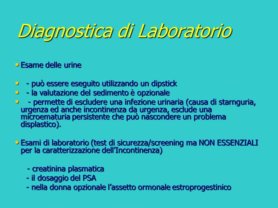 Diagnostica di Laboratorio Esame delle urine Esame delle urine - può essere eseguito utilizzando un dipstick - può essere eseguito utilizzando un dips