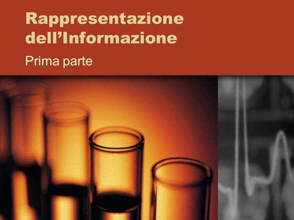 Rappresentazione dell'Informazione Prima parte