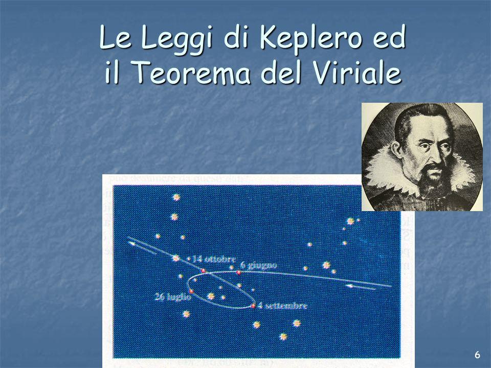 6 Le Leggi di Keplero ed il Teorema del Viriale