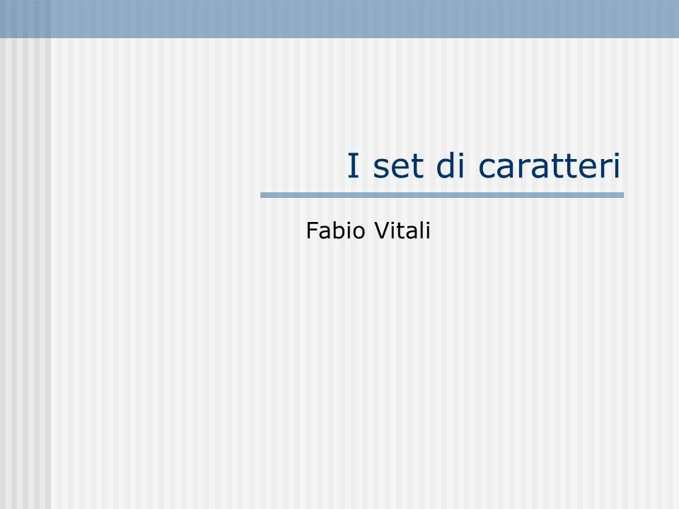 I set di caratteri Fabio Vitali