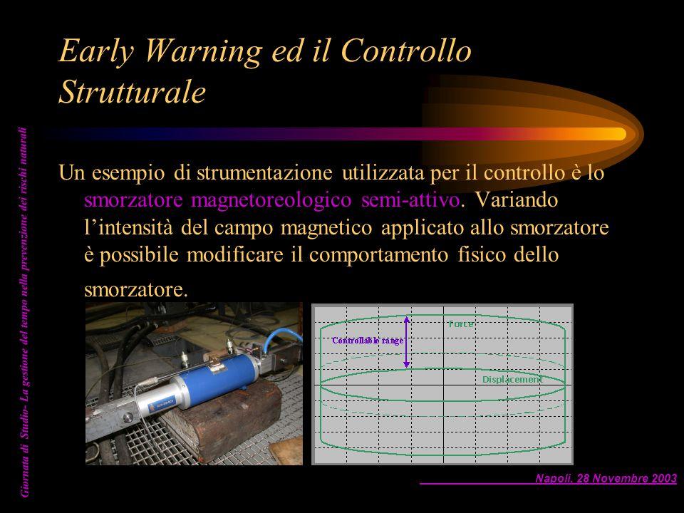 Napoli, 28 Novembre 2003 Giornata di Studio- La gestione del tempo nella prevenzione dei rischi naturali Early Warning ed il Controllo Strutturale Un