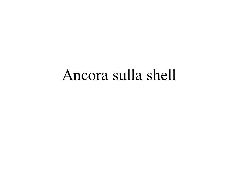 Ancora sulla shell