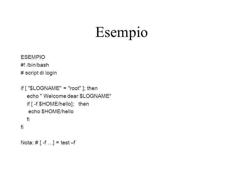 Esempio ESEMPIO #.