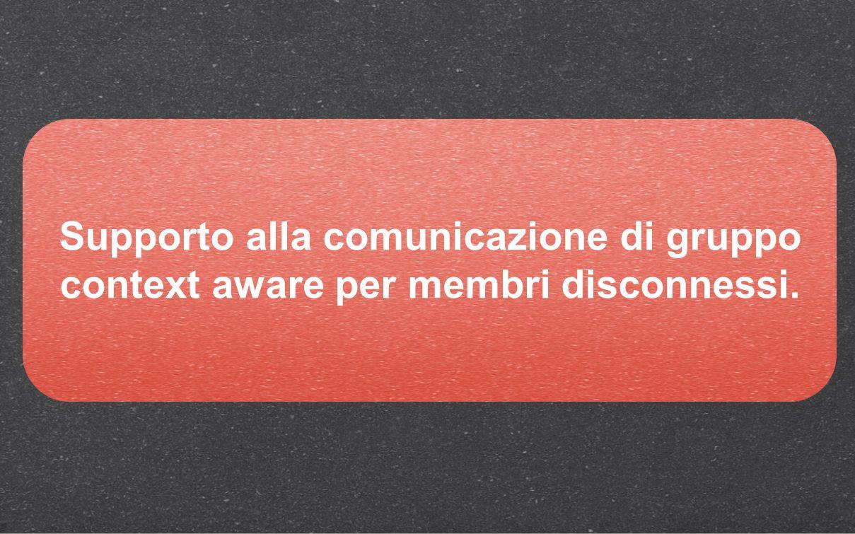 Supporto alla comunicazione di gruppo context aware per membri disconnessi.