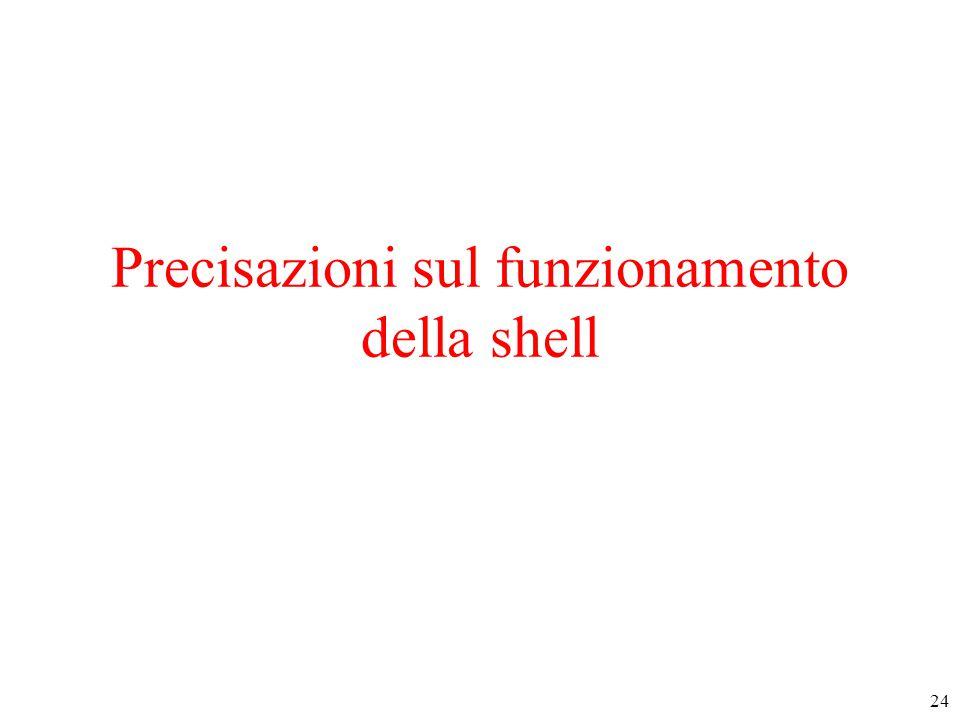 24 Precisazioni sul funzionamento della shell