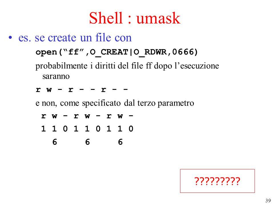 39 Shell : umask es.
