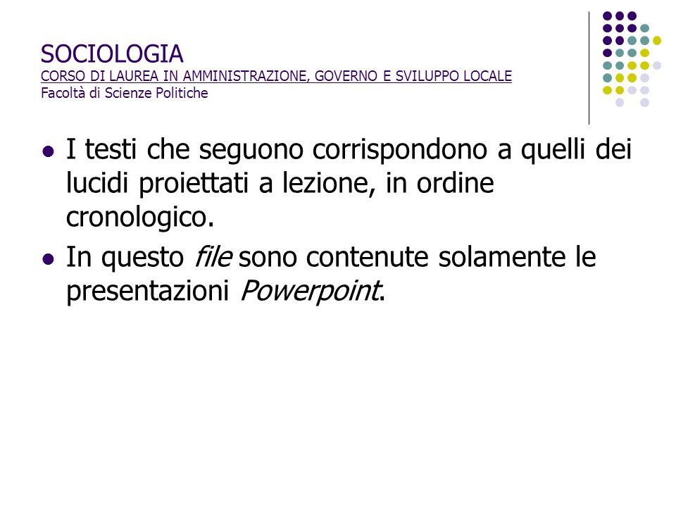 I RUOLI SOCIALI: SCHEMI DI COMPORTAMENTO ATTESI E FORMALIZZAZIONE SCHEMI DI COMPORTAMENTO ATTESI: 1.