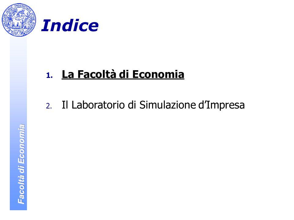 Indice 1. La Facoltà di Economia 2. Il Laboratorio di Simulazione d'Impresa