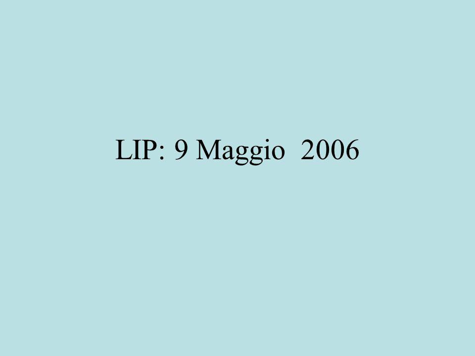 LIP: 9 Maggio 2006