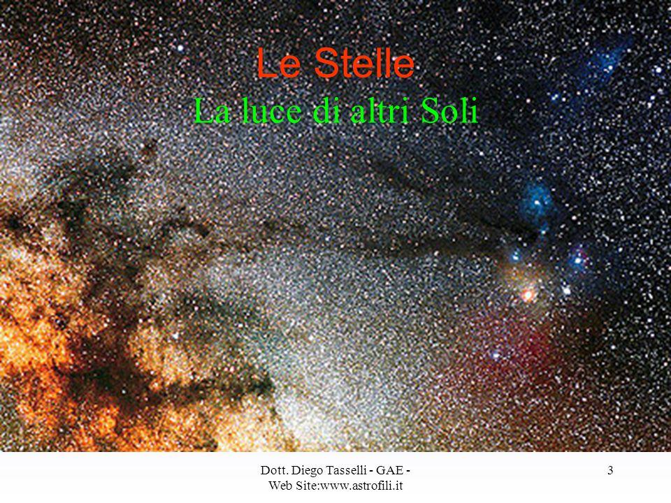 Dott. Diego Tasselli - GAE - Web Site:www.astrofili.it 3 Le Stelle La luce di altri Soli