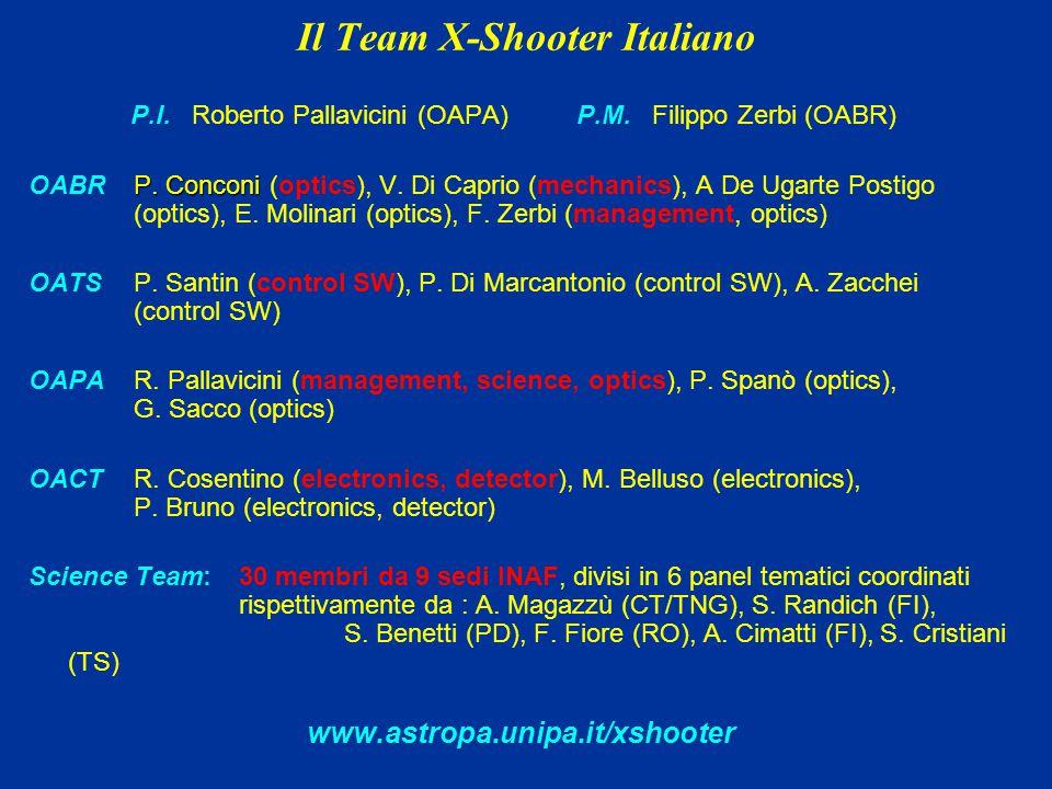 Il Team X-Shooter Italiano P.I. Roberto Pallavicini (OAPA) P.M.