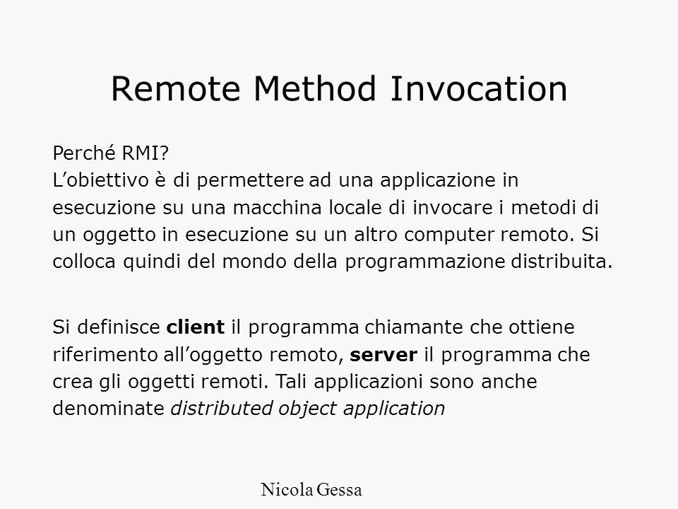 Remote Method Invocation Perché RMI.