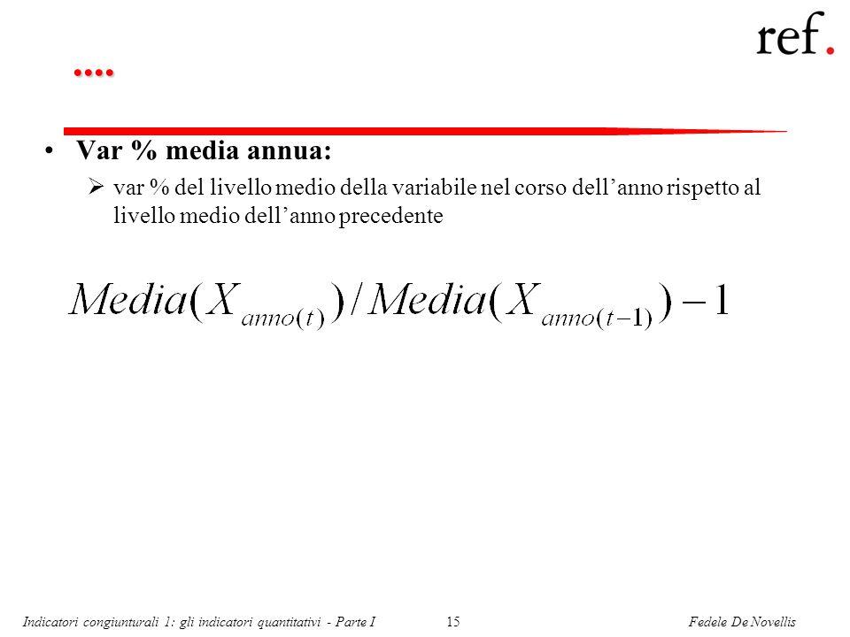 Fedele De NovellisIndicatori congiunturali 1: gli indicatori quantitativi - Parte I15....