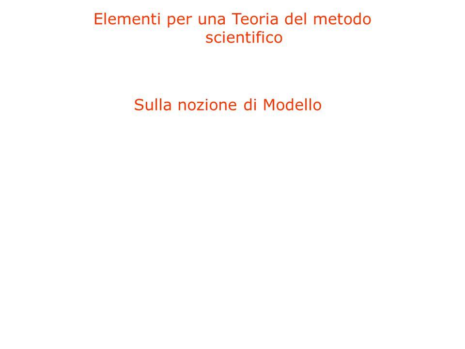 Elementi per una Teoria del metodo scientifico Sulla nozione di Modello