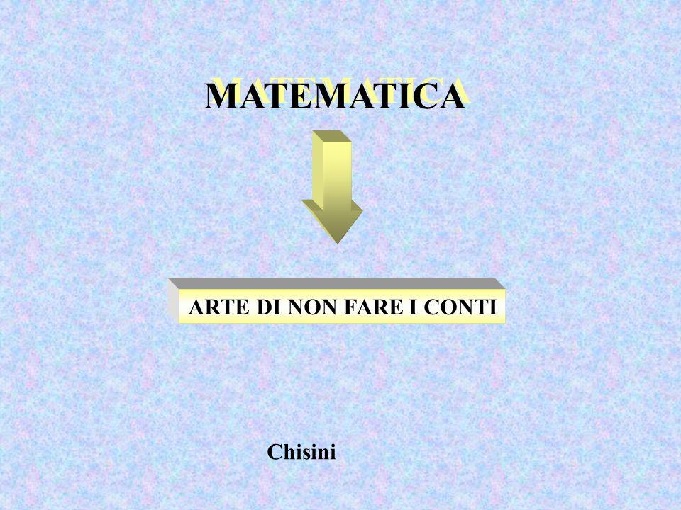 MATEMATICA ARTE DI NON FARE I CONTI Chisini