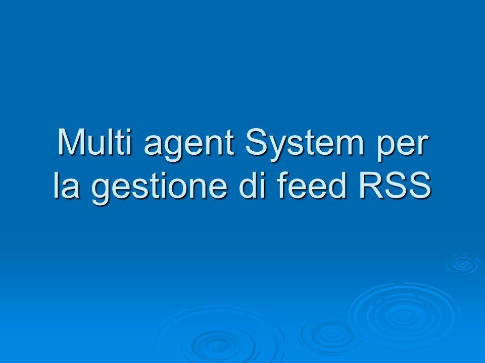 Obiettivi  Progettazione di un sistema ad agenti basato su tucson per la gestione di feed RSS  Sviluppo di un'applicazione client per svolgere le funzionalità di feed aggregator  Estensione del sistema per il supporto alla replicazione dei centri di tuple