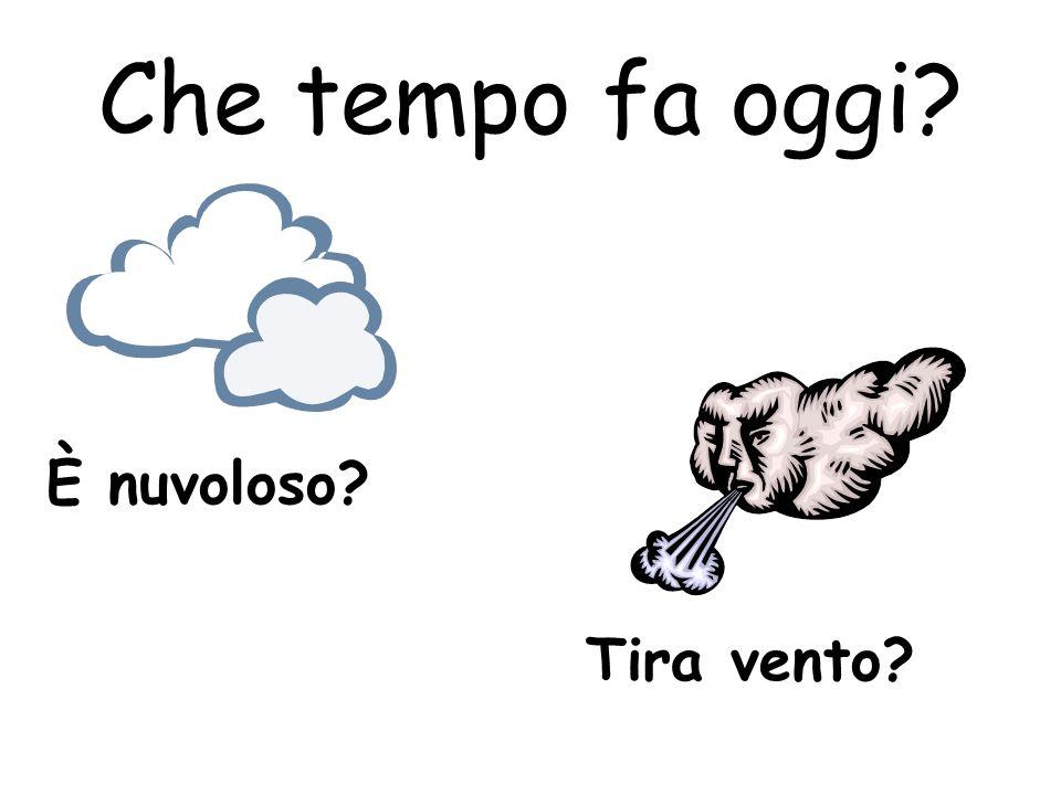 Che tempo fa oggi? È nuvoloso? Tira vento?