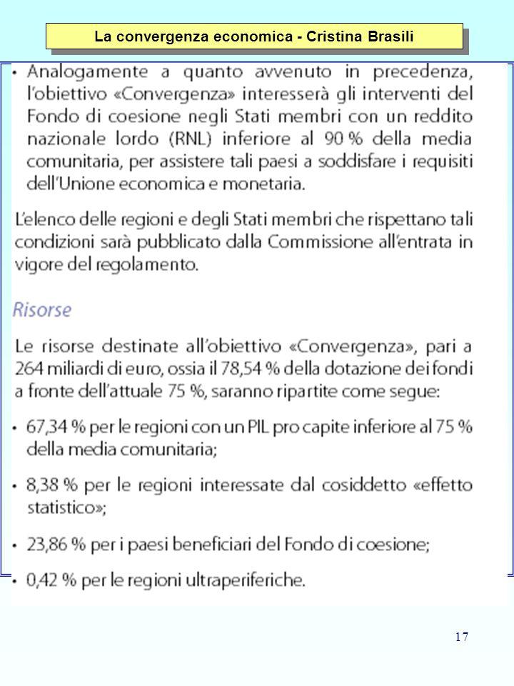 17 La convergenza economica - Cristina Brasili