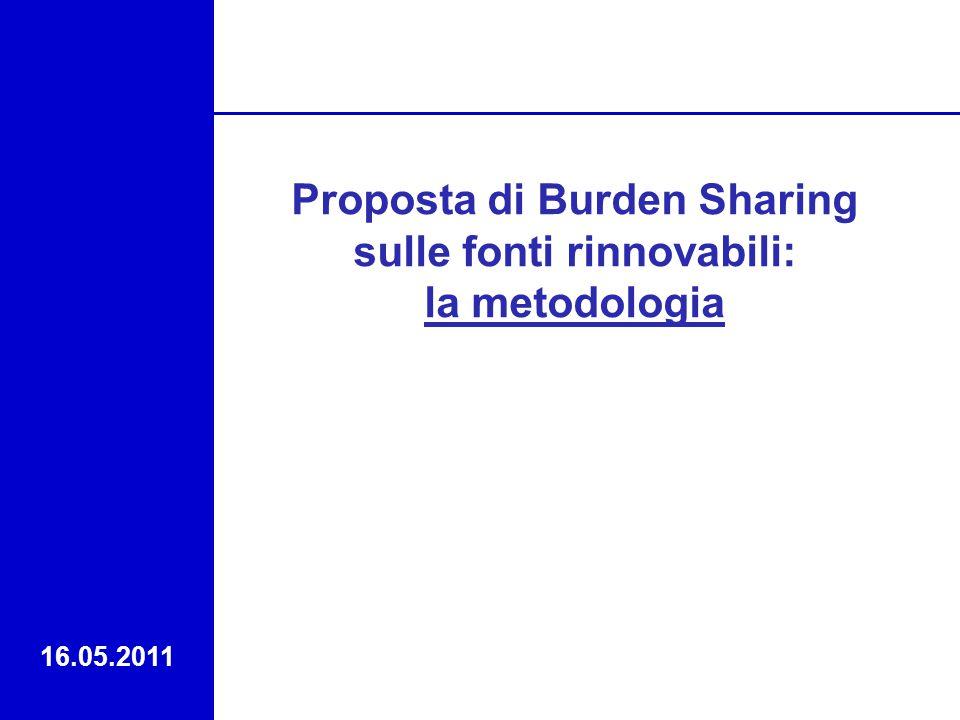 Proposta di Burden Sharing sulle fonti rinnovabili: la metodologia 16.05.2011