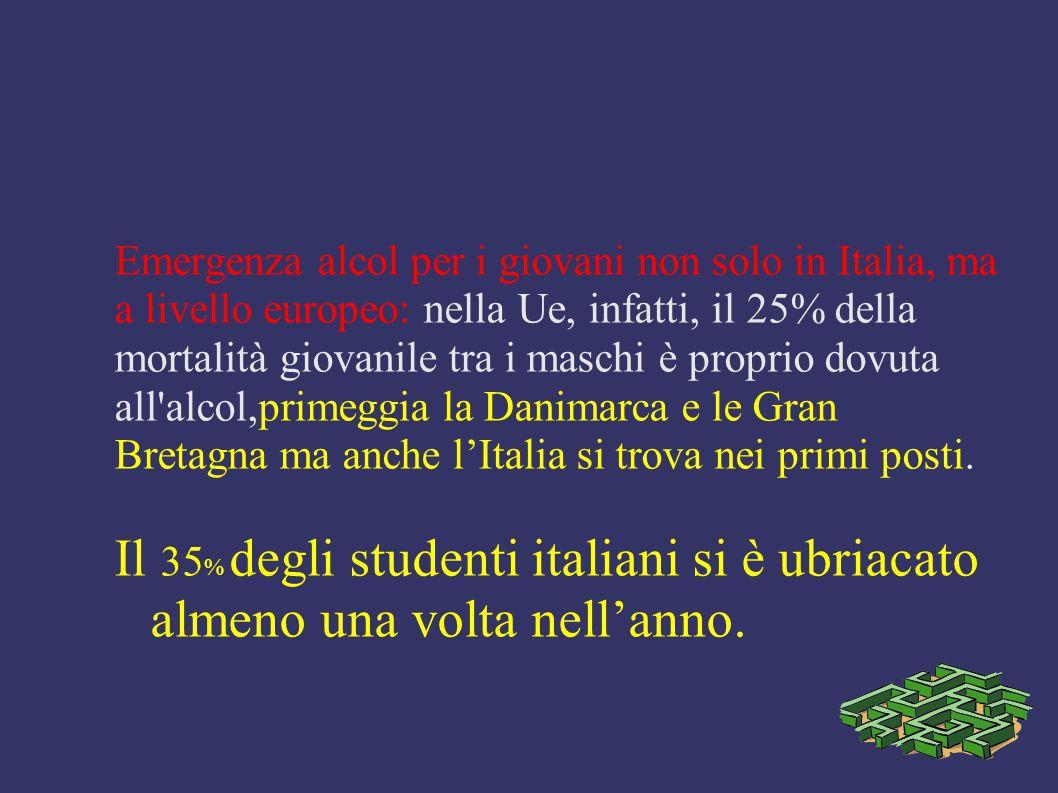 Emergenza alcol per i giovani non solo in Italia, ma a livello europeo: nella Ue, infatti, il 25% della mortalità giovanile tra i maschi è proprio dov