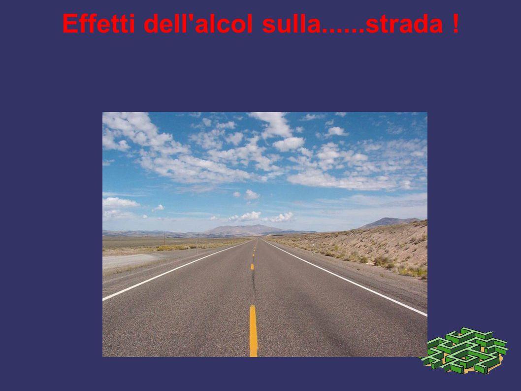 Effetti dell'alcol sulla......strada !