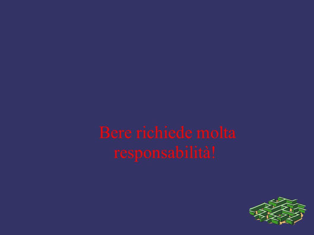 Bere richiede molta responsabilità!