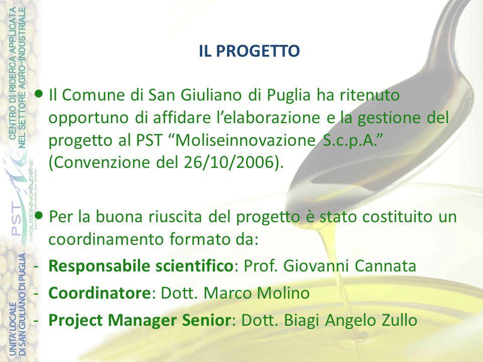 IL PROGETTO ● Il Comune di San Giuliano di Puglia ha ritenuto opportuno di affidare l'elaborazione e la gestione del progetto al PST Moliseinnovazione S.c.p.A. (Convenzione del 26/10/2006).