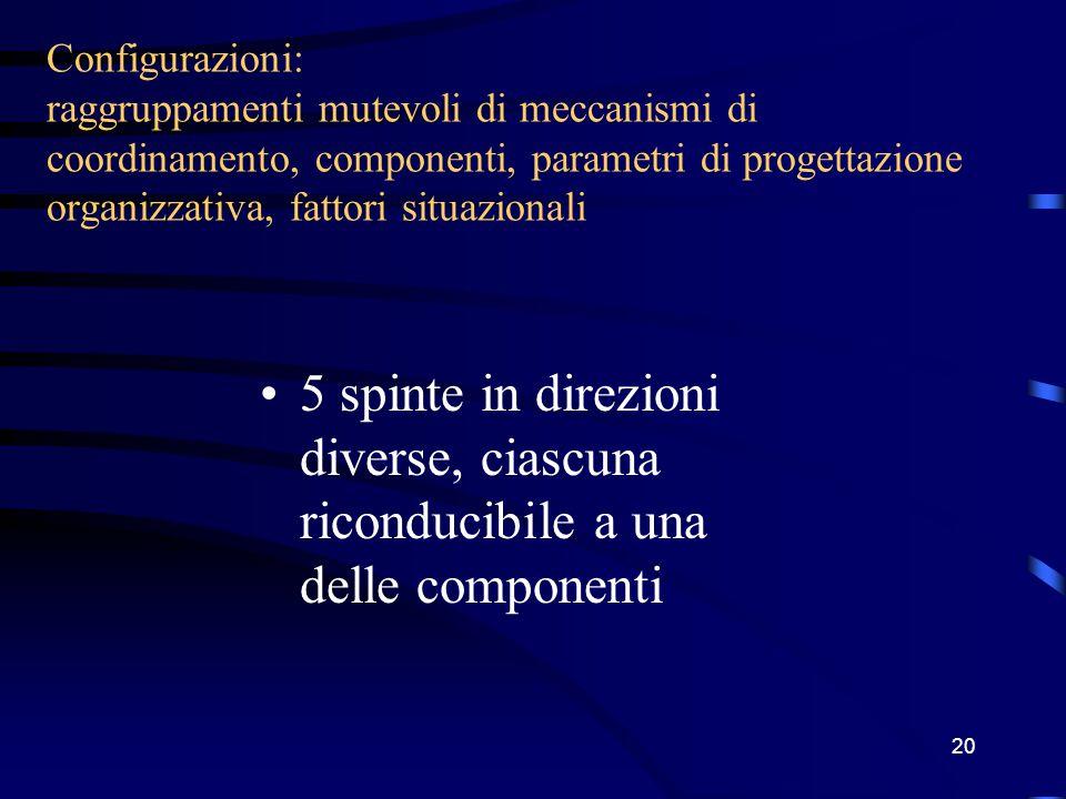 19 Ipotesi 9: Più l'ambiente è dinamico, più l'organizzazione è di tipo organico Ipotesi 10: Più l'ambiente è complesso, più l'organizzazione è decentrata
