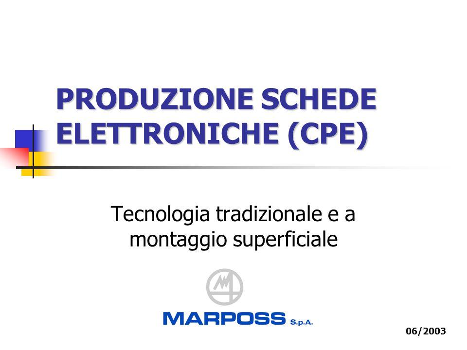 PRODUZIONE SCHEDE ELETTRONICHE (CPE) Tecnologia tradizionale e a montaggio superficiale 06/2003