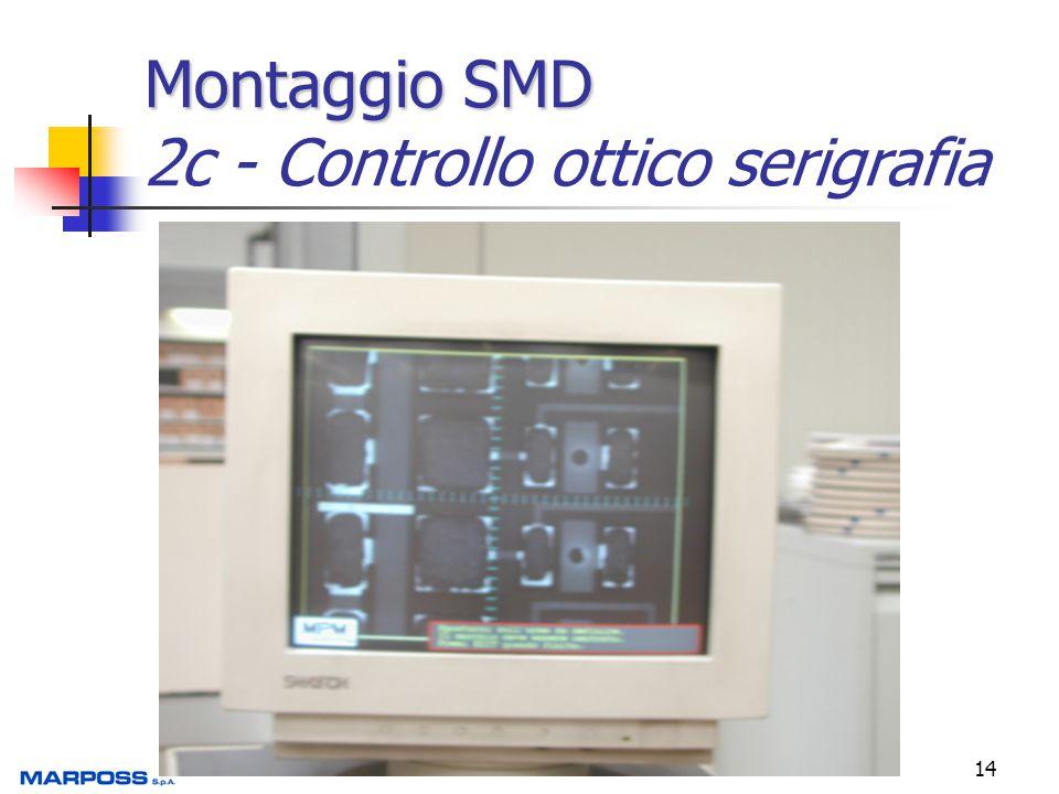 14 Montaggio SMD Montaggio SMD 2c - Controllo ottico serigrafia