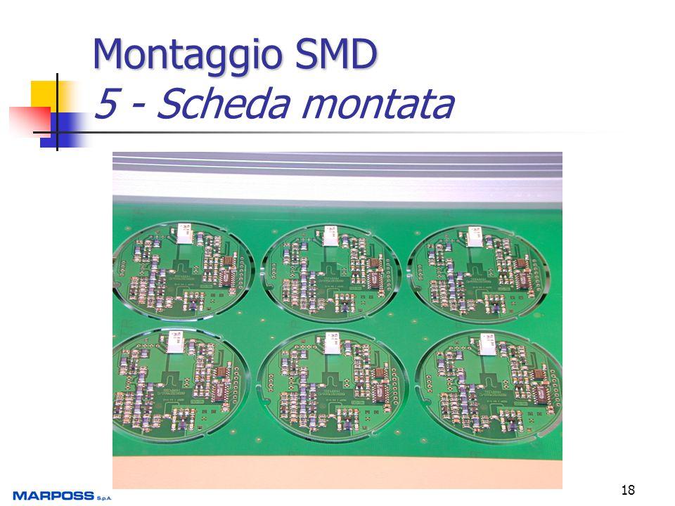 18 Montaggio SMD Montaggio SMD 5 - Scheda montata