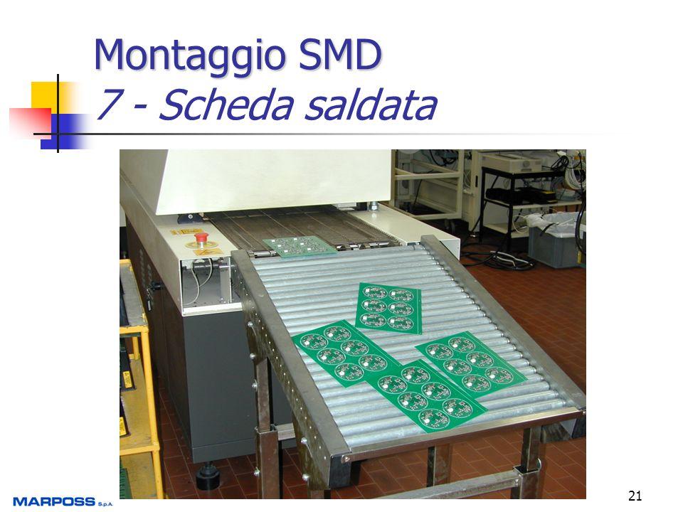 21 Montaggio SMD Montaggio SMD 7 - Scheda saldata