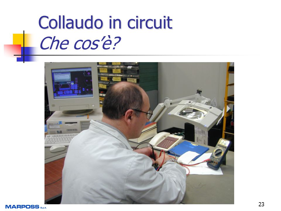 23 Collaudo in circuit Collaudo in circuit Che cos'è?